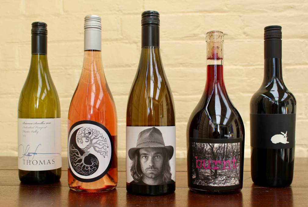 HOT TO TROT: From left, 2020 drops by Thomas Wines, Grandis Wines, Vinden Headcase, M&J Becker Wines and Usher Tinkler.