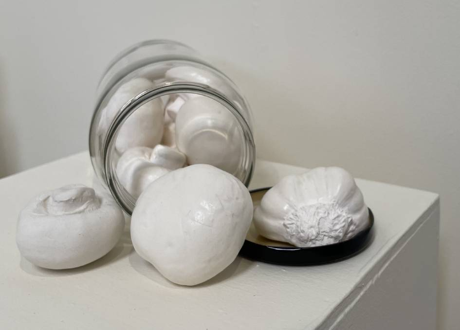 Showing at Art Systems Wickham: Porcelain vessels by Lynda Stone.
