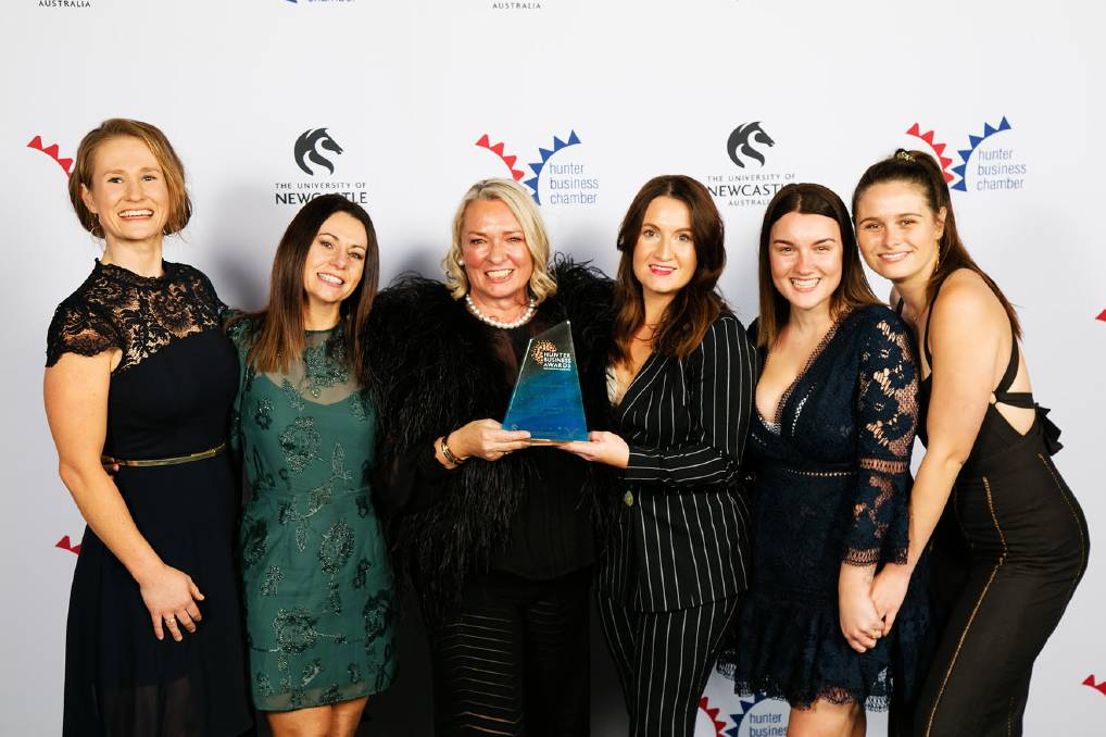ACHIEVING GOALS: Celebrating their award are Allied Hunter Care staff (left to right) Kristy Hord, Stacey Musalik , owner Simone le Mesurier, Grace Page, Monique Aganovic, and Meg Hassan. Photo: AJM Photography