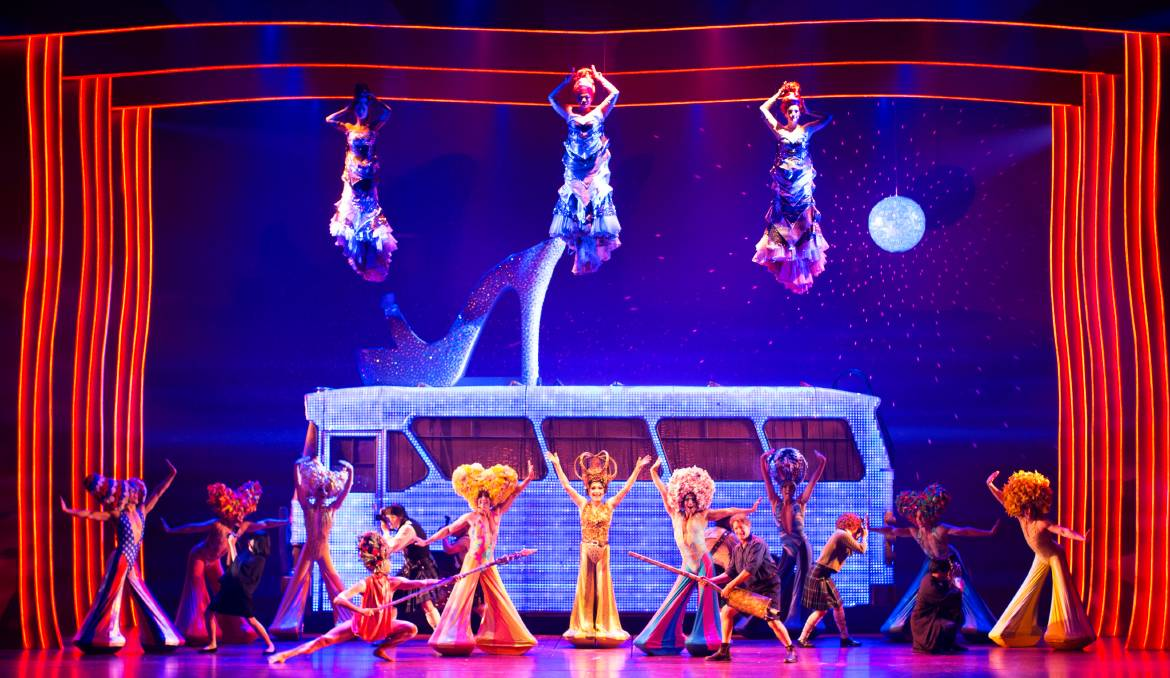 ON TOUR: David Harris, Tony Sheldon and Euan Doidge star in Priscilla Queen of the Desert: The Musical.