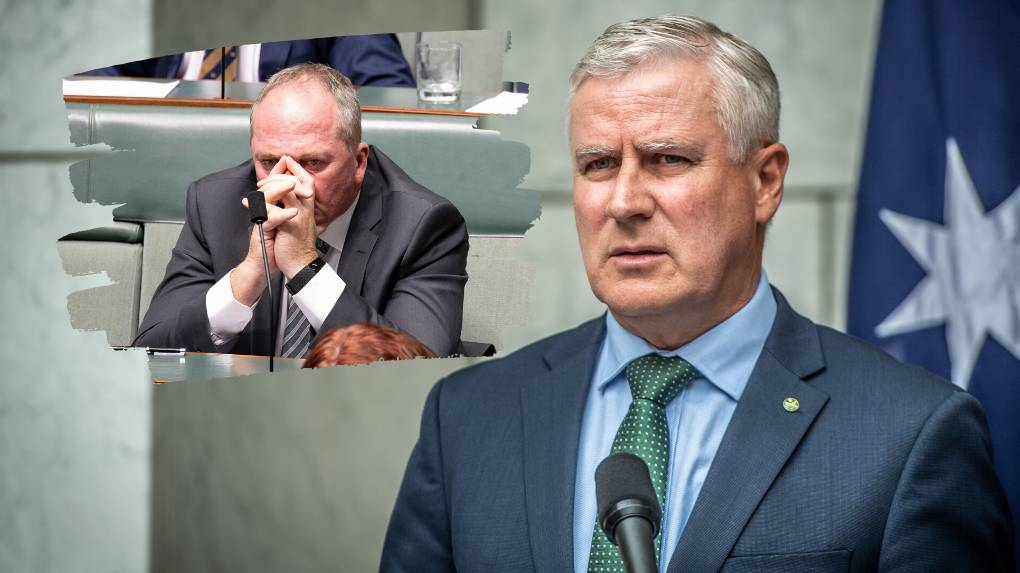 PARTY POLITICS: Nats leader Michael McCormack says his party is united, however Barnaby Joyce refused to rule out a future tilt at the leadership. Photo: Sitthixay Ditthavong/Karleen Minney