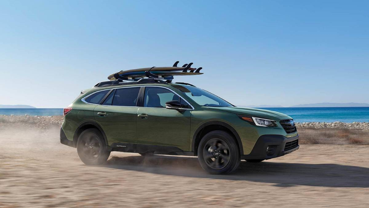 Futuristic: Subaru Outback vehicles have autonomous braking, which feels like a big step towards self-driving cars.