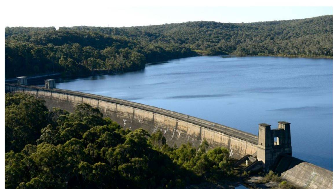 HYDRO POTENTIAL: The heritage-listed Cordeaux Dam, one of four supplying water to Sydney, and included in the NSW government's Pumped Hydro Roadmap of 2018.