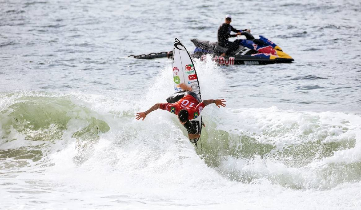 TIMELY REMINDER: Former #1 Gabriel Medina launching in opening day competition. Picture: Cait Miers/WSL