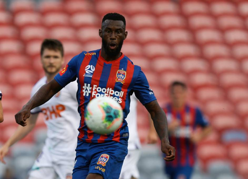 ON BOARD: Bernie Ibini has signed a one-year extension with the Newcastle Jets. Picture: Jonathan Carroll