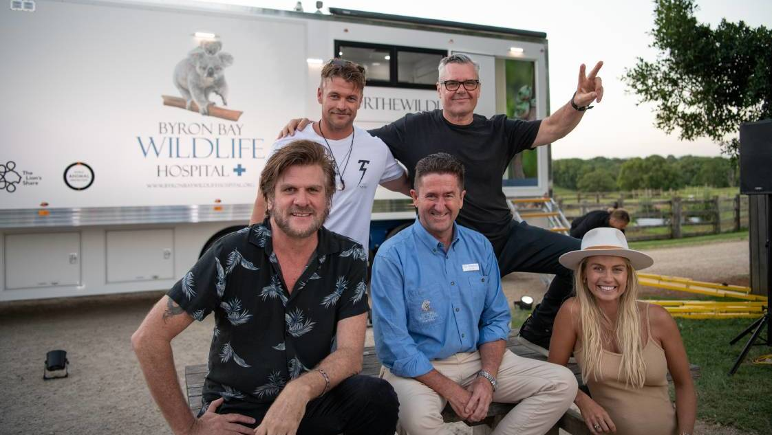 Tex Perkins, Luke Hemsworth, Dr Stephen Van Mil (Founder and CEO), Jon Farriss and Elyse Knowles