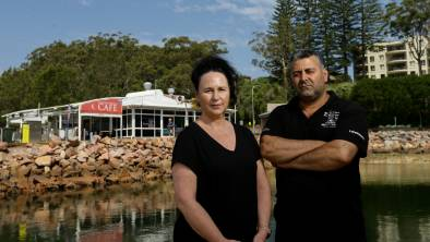 LOSSES: Dolphin Watch Cafe manager Eser Dinkciler and staff member Tracy Blundell. Picture: Jonathan Carroll