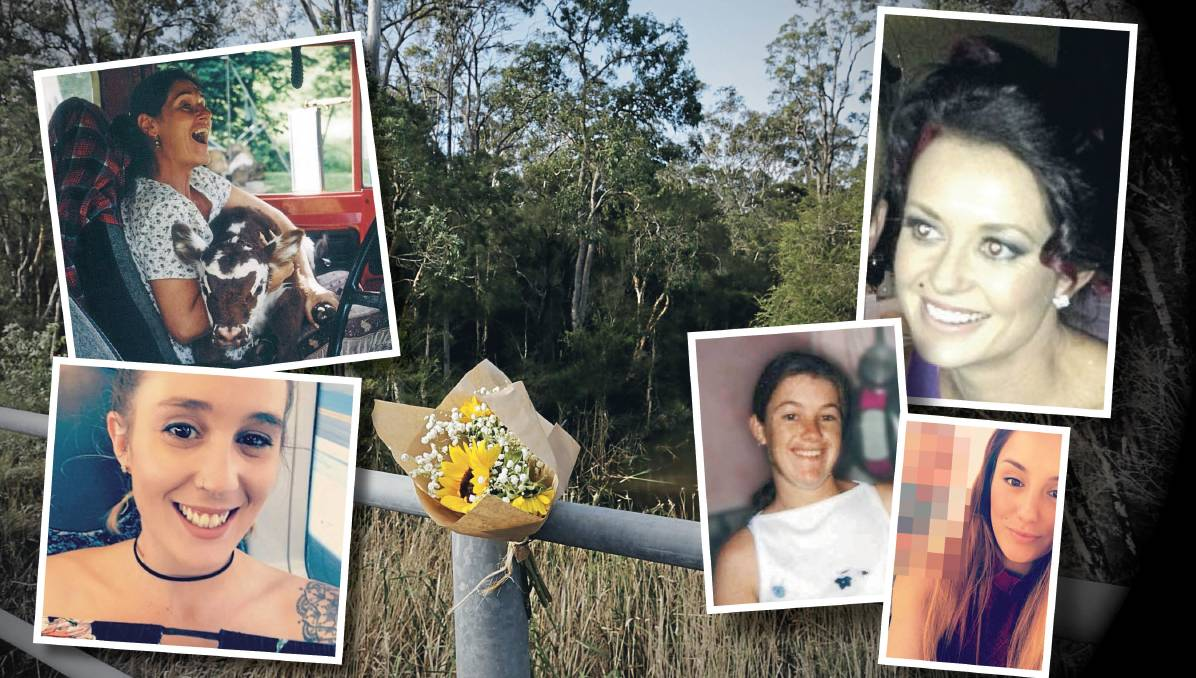 TRAGIC: Clockwise from top right, Marika Ninness, Gabriella Thompson, Renee Mitchell, Danielle Easey and Molly Goodbun.