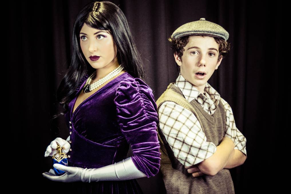 SHOWTIME: Shyla Schillert, the Grand High Witch, and Sam Lane, The Boy, in The Witches. Picture: Jo Roberts