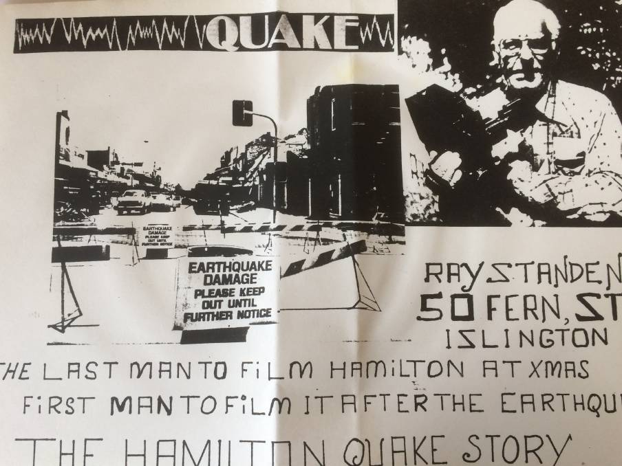 ON THE SPOT: The cover of Ray Standen's unique video documentary made in the immediate aftermath of the 1989 earthquake.