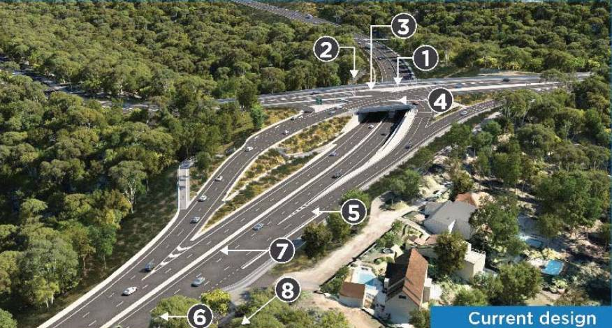 NEW DESIGN: An artist's impression of the McCaffrey Drive interchange looking north.