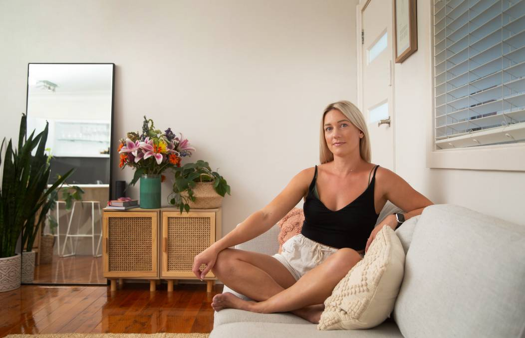 Better: Almost five years after getting breast implants, Kirsty Seward suffered debilitating fatigue, muscle aches, joint pain and brain fog and a multitude of tests couldn't provide any answers. She believes her symptoms were a result of breast implant illness. Picture: Marina Neil