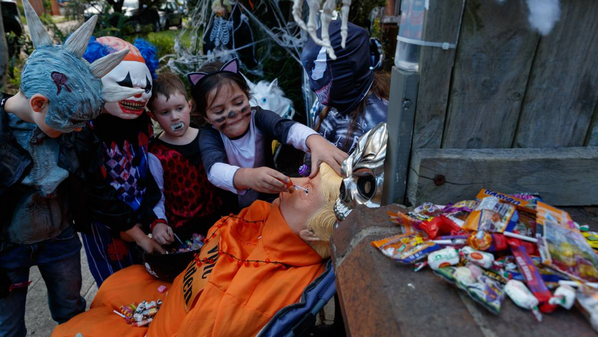 Tighes Hill plays a 'Trump' card for a COVID-safe Halloween