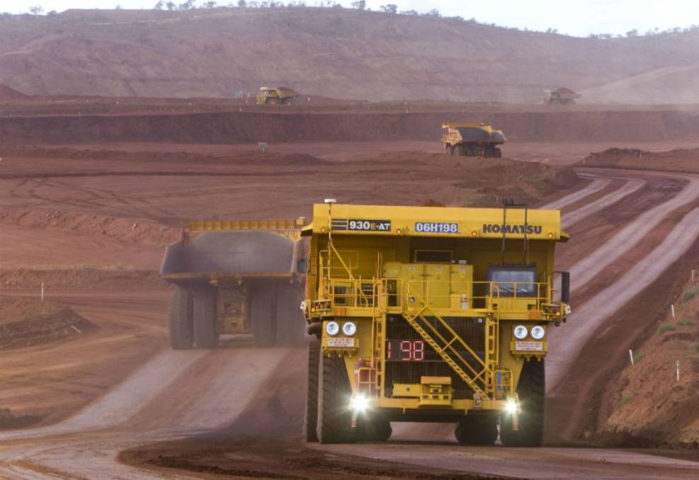 Automated: A driverless dump truck. The increased use of artificial intelligence will impact on employment opportunities in the mining sector.