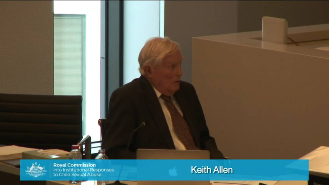 LONG DAY IN WITNESS BOX: Solicitor Keith Allen giving evidence.