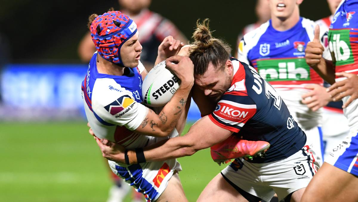 Sydney Roosters overpower Knights for 28-8 win on Sunshine Coast