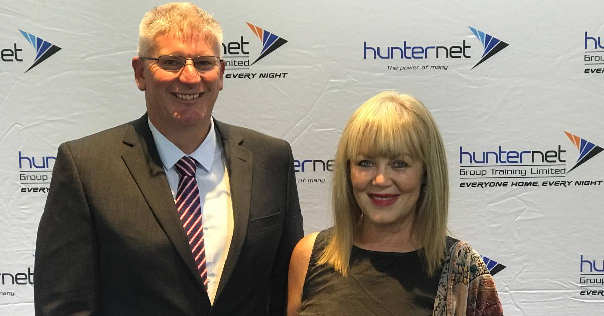 Peerless: Leigh Bryant. with HunterNet chairman Steve Tolley, received the cooperative's most prestigious recognition at its annual Chairman's Awards on Thursday.