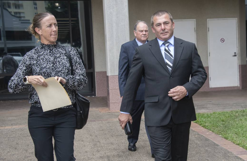 NO FOUL PLAY: Sergeant Kirsty Sutherland and Detective Sergeant Peter Edwards, who headed the investigation, leaving the Cairns Coroners Court on Tuesday. Picture: Brian Cassey