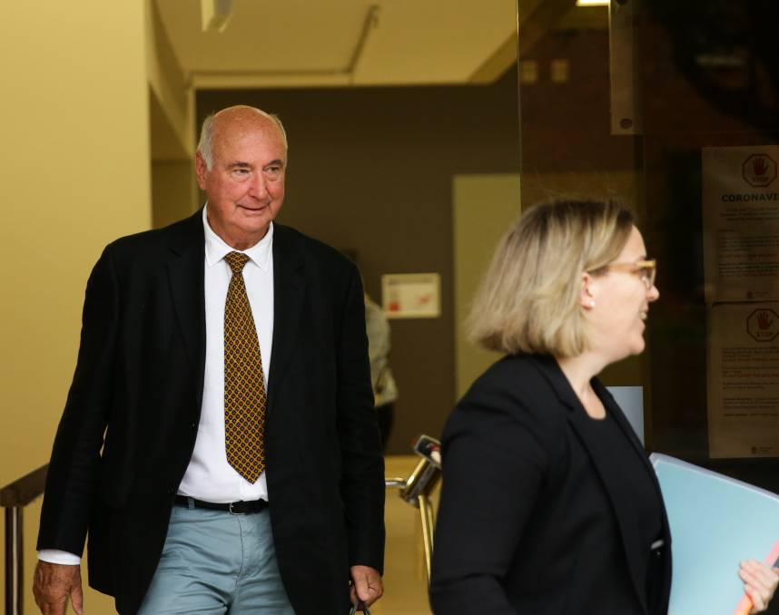 GUILTY: Truegain landowner Robert Pullinger leaving Parramatta Local Court on Tuesday with his solicitor Lauren Sims. Picture: Jonathan Carroll