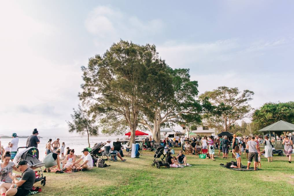 CELEBRATION: The Lake Mac Festival at Pelican foreshore in 2020.