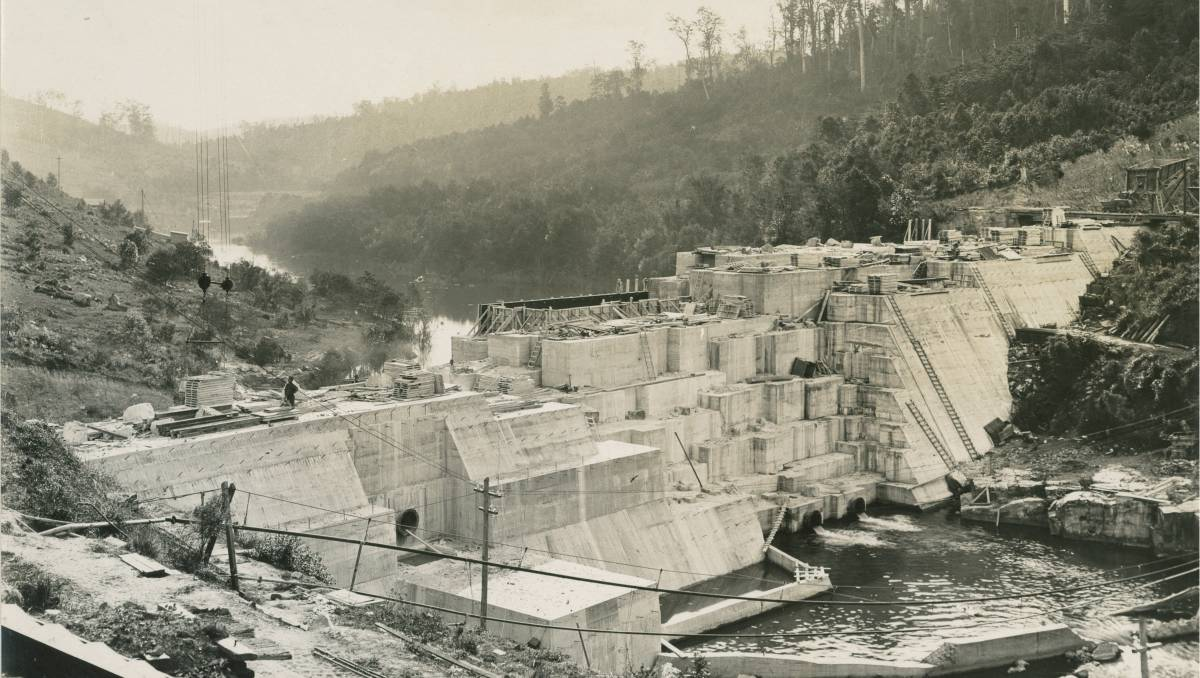 Historic photos reveal construction of Chichester Dam as the wall undergoes inspection 100 years on