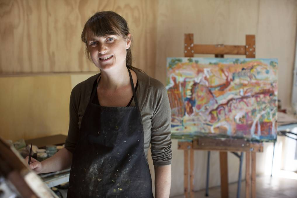 OPEN STUDIO: Artist Michelle Teear at her studio in Blackalls Park.