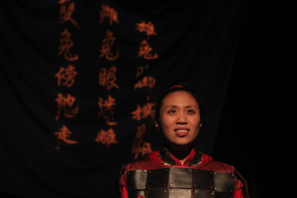 HEROINE: UK theatre company Grist to the Mill will tour its production The Ballad of Mulan to the WEA Creative Arts Centre on March 20 and 22 as part of Newcastle Fringe. Pictured is Michelle Yim as Mulan.