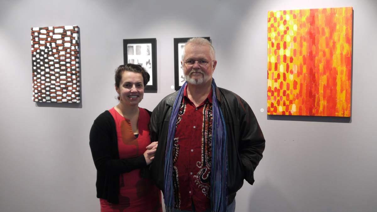 TWO GENERATIONS: Jessica Dib-Newbery and her father, Alan Newbery, will exhibit art works at NANA Gallery over the next few weeks.