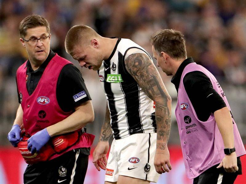 Jordan De Goey's concussion was no excuse for Collingwood's in-game rules breach, the AFL says.