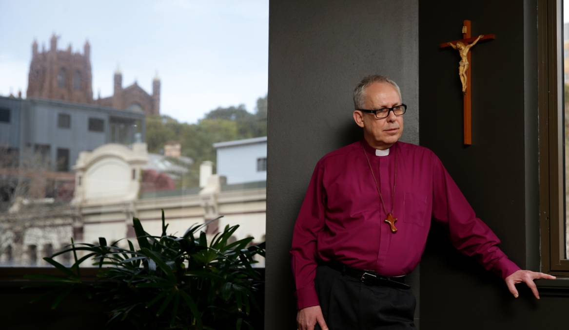CONCERNED: Newcastle Anglican Bishop Greg Thompson  on Tuesday.  Picture: Jonathan Carroll